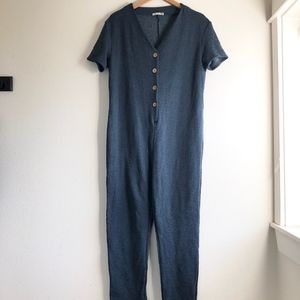 Zara trafaluc jumpsuit buttoned up sz:S comfy